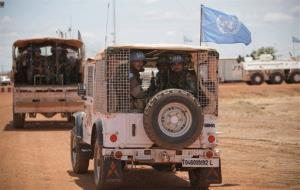 Soldiers serving with the United Nations Mission in Sudan.