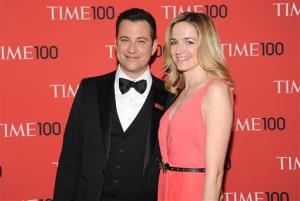 Jimmy Kimmel and Molly McNearney in April.