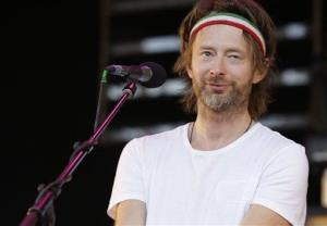 British musician Thom Yorke performs at Glastonbury Festival, in Glastonbury,  England, Friday, June 25, 2010.