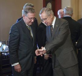 Mitch McConnell and Harry Reid in a file photo.