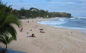 Boucan Canot beach in the Reunion island, a French overseas territory in the Indian Ocean.