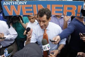 New York City mayoral hopeful Anthony Weiner .