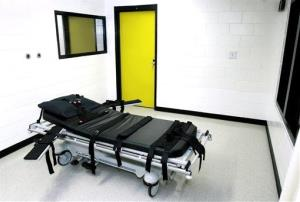 The death chamber at the state prison in Jackson, Georgia.