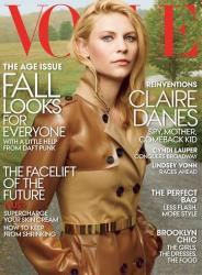 This magazine cover image released by Vogue shows actress Claire Danes on the cover of the August 2013 issue.