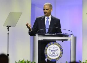 Attorney General Eric Holder delivers the keynote address at the annual NAACP convention Tuesday in Orlando, Fla.