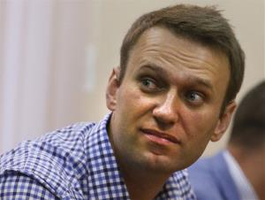 Russian opposition leader Alexei Navalny listens to a judge in a court in Kirov, Russia on Thursday, July 18, 2013.