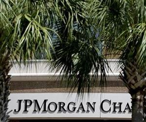The front of one of the JPMorgan Chase & Co. buildings is shown during the annual meeting Tuesday, May 21, 2013, in Tampa, Fla.