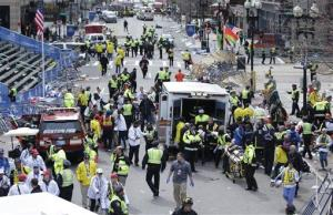 FILE This April 15, 2013 file photo shows medical workers aiding injured people at the finish line of the 2013 Boston Marathon in Boston following an explosion. If the Obama administration seeks the death penalty against Boston Marathon bombing suspect Dzhokhar Tsarnaev, it would face a long, difficult legal battle...