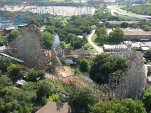 A file photo of the Texas Giant coaster.