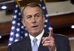 Speaker of the House John Boehner takes questions on immigration, student loans, and GOP-led efforts to stop ObamaCare, Thursday, July 18, 2013.