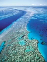 In this Sept. 2001 file photo, an aerial view shows Australia's Great Barrier Reef, where US fighters jettisoned four bombs last week in a training emergency.