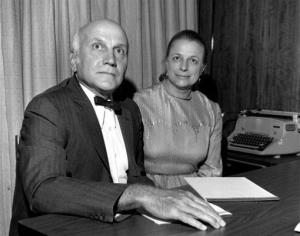 In this June 18, 1972 file photo, human sexuality researchers William H. Masters, MD, and his wife, Dr. Virginia Johnson Masters, pose for a photo in San Francisco.