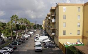 The apartment building where a fatal shooting took place in Hialeah, Florida.