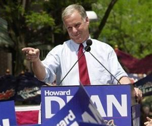 Howard Dean is seen at a campaign rally in this 2003 file photo.