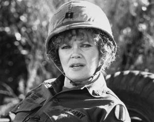 In this 1980 file image released by Warner Brothers Pictures, actress Eileen Brennan portrays Capt. Doreen Lewis in a scene from Private Benjamin.