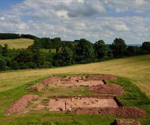 The excavation at the top of Dorstone Hill in Herefordshire.