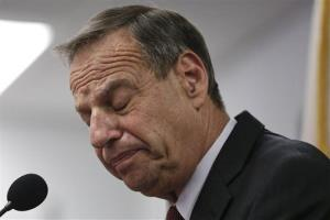 San Diego Mayor Bob Filner pauses as he speaks during a news conference on Friday.