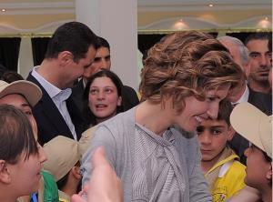An Instagram photo shows Assad and his wife surrounded by beaming children.