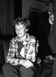 A file photo of Amelia Earhart.