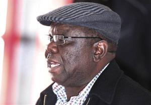 Zimbabwe's opposition leader Morgan Tsvangirai in Harare, Thursday, Aug. 1, 2013.  Tsvagirai said the election is null and void due to violations in the voting process.