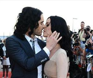 Photo dated April 19 2011 of Katy Perry and Russell Brand.