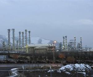 Iran's heavy water nuclear facility near the central city of Arak is backdropped by mountains in this file photo dated Jan. 15, 2011.