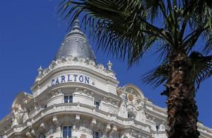 A view of the Carlton hotel, in Cannes, southern France, Tuesday, July 30, 2013, the scene of a daylight raid July 28.