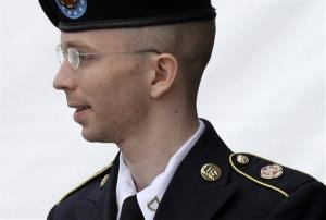 FILE - In this July 30, 2013 file photo, Army Pfc. Bradley Manning is escorted out of a courthouse in Fort Meade, Md. after receiving a verdict in his court martial. Few Americans in living memory have emerged from obscurity to become such polarizing public figures _ admired by many...