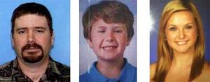 This composite photo released by the San Diego Sheriff's Department shows James Lee Dimaggio, 40, Ethan Anderson, 8, and Hannah Anderson, 16.