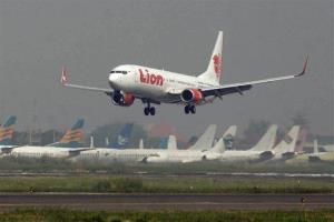 File photo of a Lion Air passenger jet as it takes off from Juanda International Airport in Surabaya, Indonesia.