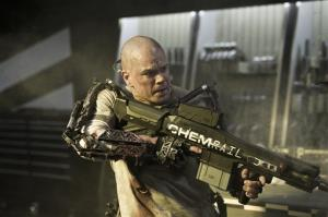 This film publicity image released by TriStar, Columbia Pictures-Sony shows Matt Damon in a scene from Elysium.