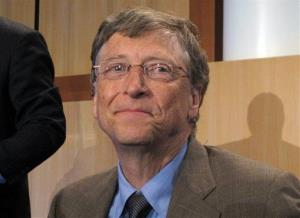Microsoft founder and philanthropist Bill Gates gives a speech to the Australian National Press, May 28, 2013, in Canberra, Australia.