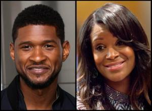 This photo combo shows R&B singer Usher and Usher's ex-wife, Tameka Foster Raymond.