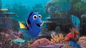 This film image released by Disney Pixar shows the character Dory, voiced by Ellen DeGeneres. The character, first introduced in Finding Nemo, returns for the sequel, Finding Dory,  set for release on Nov. 25, 2015.