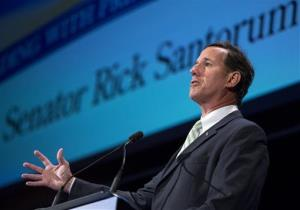 Former Pennsylvania Sen. Rick Santorum speaks during the family leadership summit in Ames, Iowa, Saturday Aug. 10, 2013.