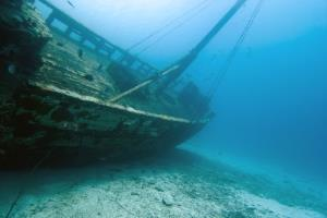 Stock image of a shipwreck.