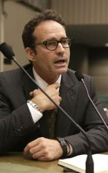 Jason Patric appears before the Assembly Judiciary Committee in Sacramento, Calif. Tuesday, Aug. 13, 2013.