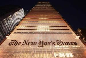 A file photo of the New York Times building.