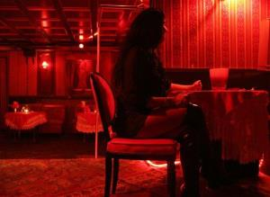 This March 11, 2008, photo shows a prostitute in a bordello.