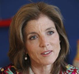 Caroline Kennedy speaks with The Associated Press in New York.