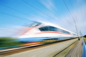 Stock image of a train.