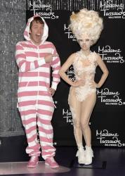 This picture may be Perez Hilton with Lady Gaga's wax figure, but the two have appeared in numerous real-life photos together as well.