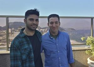 Guardian journalist Glenn Greenwald, right, and his partner David Miranda.
