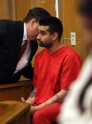 Derek Medina. who is charged with murder in the death of his wife Jennifer Alfonso, appears in court in Miami on Aug. 16.