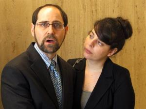 Jesse Friedman, left, the subject of a 2003 Oscar-nominated documentary, Capturing the Friedmans, speaks to reporters after a judge's decision. At right is Friedman's wife, Lisabeth Walsh.