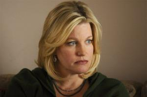 This image released by AMC shows Anna Gunn as Skyler White in a scene from Breaking Bad.