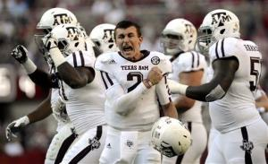 Texas A&M quarterback Johnny Manziel.