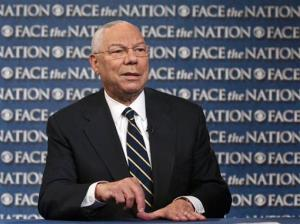 In this Aug. 21, 2013, photo, former Secretary of State Colin Powell speaks on CBS' Face the Nation during a pre-taped interview.