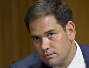 In this July 11, 2013 file photo, Sen. Marco Rubio, R-Fla. is seen on Capitol Hill in Washington.