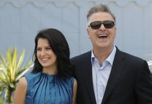 Alec Baldwin and wife Hilaria Thomas pose for photographers in Cannes, France, in May.